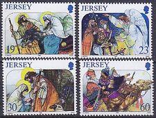 JERSEY MNH UMM STAMP SET 1996 SG 764-767 CHRISTMAS NATIVITY SCENES