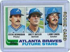 ⚾️ 1982 ~ Topps #502 ~ Steve Bedrosian / Brett Butler / Larry Owen  RC ~ Braves