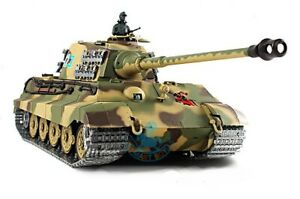 1/16 German King Tiger Henschel Turret Upgrade Super Metal w/Smoke & Sound RTR