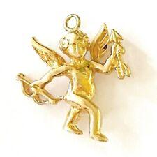 9CT 375 VINTAGE GOLD CUPID CHARM/ PENDANT