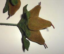 Vintage Velvet Moss Green Pear Pick made in Hong Kong
