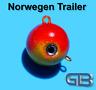 Norwegen Trailer, 140g 170g Sea Trailer, Kugelblei mit Öse, Jigkopf