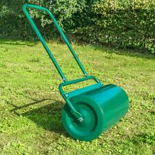 More details for garden lawn roller large heavy duty 48 litre barrel outdoor grass seed sand fill
