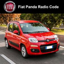 Código Fiat Panda de Radio Stereo Decodificar Desbloqueo De Coche Servicio Rápido Reino Unido todos los vehículos
