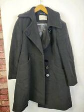 Womens Kaliko Coat Black Size 14 Buttons  Wool Cashmere Blend Used
