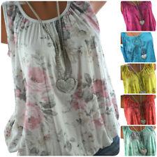 ITALY Sommer TOP Shirt Rosen Print Ballon Tunika Bluse 38 40 42 44 NEU