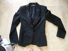veste noir zara encolure satin xs
