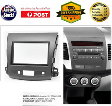 Fascia facia Mitsubishi Outlander 2006-2012 Double Two 2 DIN Dash Kit