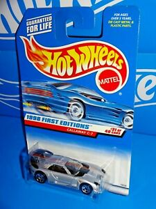 Hot Wheels 1998 First Editions #677 Callaway C-7 Silver w/ Plastic Headlights