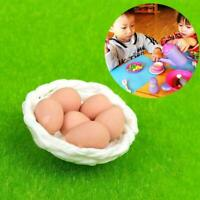 1:12 Dolls House Miniature Kitchen Food Accessories 6 Eggs & basket  Set New