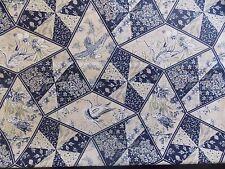 WtW Fabric Floral Bird Cheater Birds Flower Nature Garden Vintage BTY Quilt