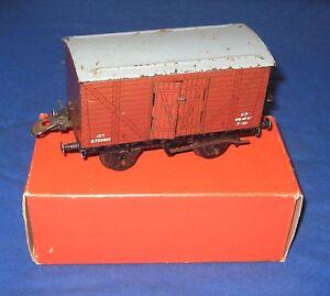 Vintage Hornby O Gauge No.50 Goods Van in Original Box