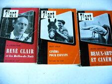 CINEMA lot 3 livres RENE CLAIR BEAUX ARTS ET CINEMA CINEMA POUR ENFANTS