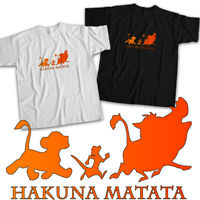 Disney Lion King Hakuna Matata No Worries Simba Pumbaa Timon Unisex Tee T-Shirt