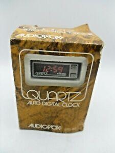 Vintage Audiovox Auto Digital Clock Automobile Car NOS LED-80 LED80 RV truck RIG
