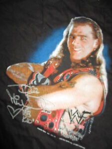 "World Wrestling Federation SHAWN MICHAELS ""HB KiD"" (Youth MED) T-Shirt w Sticker"