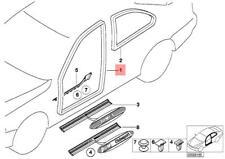 Genuine BMW E36 Coupe Door Seal Left Front OEM 51711977727