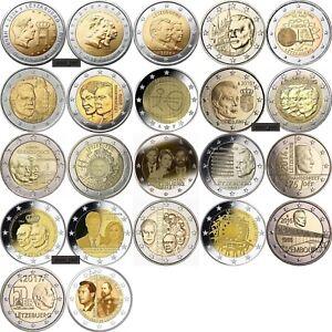 Luxembourg 2 euro 22 coins 2004 - 2017, UNC luxemburg letzebuerg Lussemburgo FDC