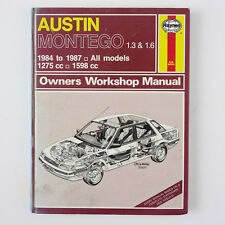 Austin Montego 1.3 and 1.6 1984-87, 1275cc & 1598cc Owners Workshop Manual