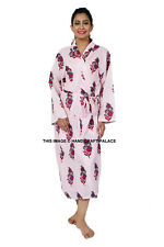 Ladies Cotton Flower Print Robes Bridal Wedding Bridesmaid Bride Gown Hens Robe