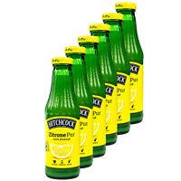 6x Hitchcock Zitronensaft Zitrone Pur 100% Direktsaft Saft aus 15 Zitronen 0.5 L