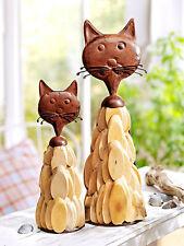 """Deko-Katzen """"Treibholz"""", 2er-Set , Garten,Treibholz -Look Naturlook Metall Katze"""