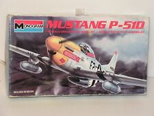 MONOGRAM  #5207 1/48 MUSTANG P-51D FIGHTER  KIT OPEN/Minor ASSEMBLY DONE