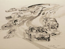 """GEORGE BARTELL art BMW All Series Cars 22/""""x17/"""" signed by artist George Bartell"""