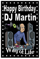 NORTHERN SOUL (DJ) - FUNNY HAPPY BIRTHDAY PERSONALISED CARD (ANY NAME) BRAND NEW