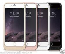 NUEVO PowerBank Cargador Funda 5800mah Oro Rosa Negro,blanco para iPhone 6 6s