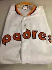SAN DIEGO PADRES MLB RETRO MAJESTIC COOPERSTOWN 4X JERSEY FREE SHIPPING