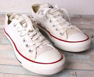 Converse All Star Chuck Taylor White Canvas Sneakers Shoes W7652 Sz 8US/39EUR