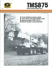 Equipment Brochure - Grove - Tms875 - Carrier Mounted Hyd Crane - c1989 (E4080)