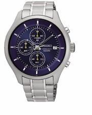 Seiko Chronograph SKS537 Blue Dial Stainless Steel Men's Watch