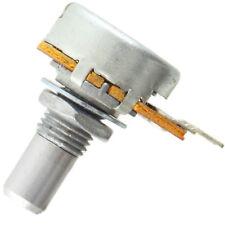"16mm Alpha Miniature Solid 1/4"" Shaft Potentiometer, 500KB Linear solder tabs"