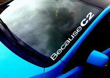 Car C2 toute couleur pare-brise autocollant euro citroen vtr sport voiture autocollant vinyle