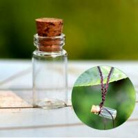 1PC Small Vase Tiny Glass Bottle Jewelry Vial Potion Tie Plug Crafts DIY I8Y2