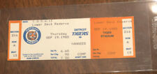 1985 Detroit Tigers NY Yankees MLB FULL UNUSED Ticket Stub HOF Trammell HR 68