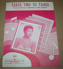 """1952 Vintage Sheet Music """"Takes Two To Tango"""" Pearl Bailey"""