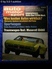AMS Auto Motor Sport 11/69 * Maserati Ghibli Sauer VW Käfer 1600 Funny-Car