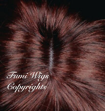Silky Touch Curly Wig In Dark Copper Red / 100% Japanese Fibre Brilliant Quality