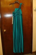 NEW MISSES SIZE 8-10 MEDIUM GREEN LONG PROM FORMAL PARTY EVENT GOWN DRESS