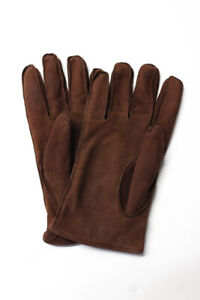 Coach Womens Leather Gloves Chocolate Brown
