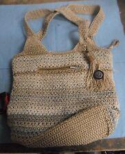 The Sak- Beige Crochet Weave Handbag with Stripes*BW-A3-2