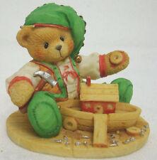 Cherished Teddies 141143 Yule Build a Sturdy Friendship Elf Bear
