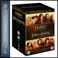 THE HOBBIT TRILOGY & LORD OF THE RINGS TRILOGY - 6 FILM THEATRICAL *BRAND NEW*
