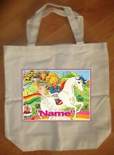 """Rainbow Brite"" Custom Personalized Birthday Tote Bag Party Favor"