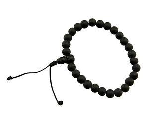 Braccialetto Mala Tibetano Pietra Onice Mat Ø8.5 MM - Per Buddista 25631 S11B