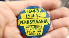 1943 Pennsylvania Resident Fishing License 194082