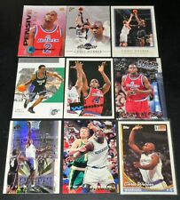 Chris Webber 9 card lot! Emotion, Topps, SP Authentic, Stadium Club, Gallery etc